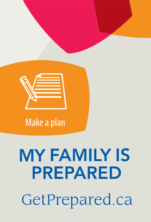 My family is prepared - Make a plan